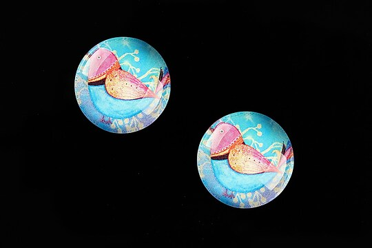 "Cabochon sticla 18mm ""Little Birdie"" cod 660"