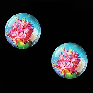 "Cabochon sticla 18mm ""Spring Flowers"" cod 664"