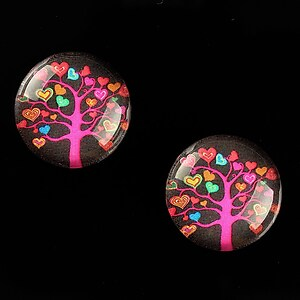 "Cabochon sticla 18mm ""Tree of Life"" cod 666"