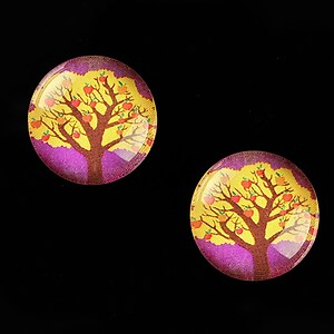 "Cabochon sticla 18mm ""Tree of Life"" cod 667"