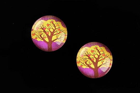 "Cabochon sticla 18mm ""Tree of Life"" cod 667"