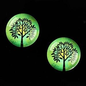 "Cabochon sticla 18mm ""Tree of Life"" cod 668"