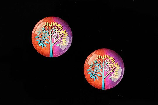 "Cabochon sticla 18mm ""Tree of Life"" cod 669"