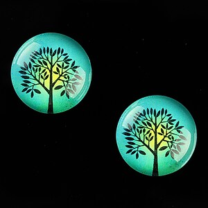 "Cabochon sticla 18mm ""Tree of Life"" cod 670"