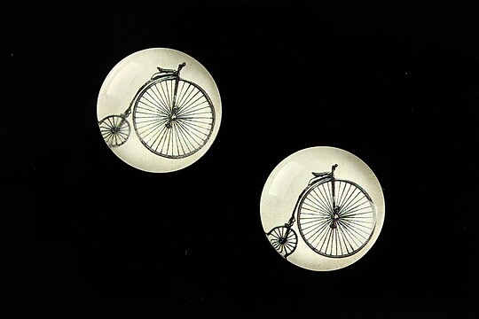 "Cabochon sticla 18mm ""Vintage Bicycle"" cod 672"