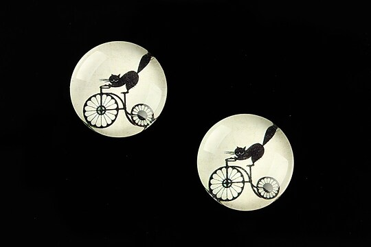 "Cabochon sticla 18mm ""Vintage Bicycle"" cod 673"