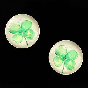 """Cabochon sticla 18mm """"Delicate Flower"""" cod 682"""