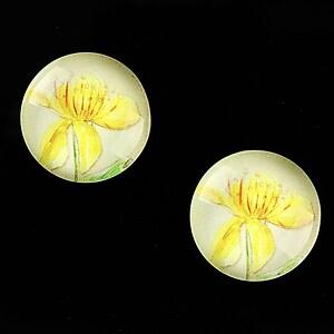"""Cabochon sticla 18mm """"Delicate Flower"""" cod 683"""