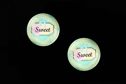 "Cabochon sticla 18mm ""Blue Chic"" cod 691"