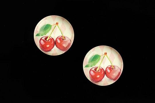 "Cabochon sticla 18mm ""Sweet as a Cherry"" cod 693"