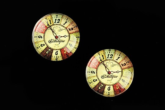 "Cabochon sticla 20mm ""Old Clock"" cod 695"