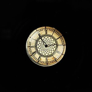 "Cabochon sticla 20mm ""Old Clock"" cod 696"
