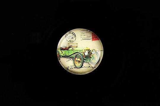 "Cabochon sticla 20mm ""Vintage Car"" cod 701"