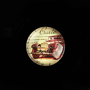 "Cabochon sticla 20mm ""Vintage Car"" cod 703"