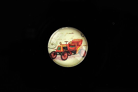 "Cabochon sticla 20mm ""Vintage Car"" cod 704"