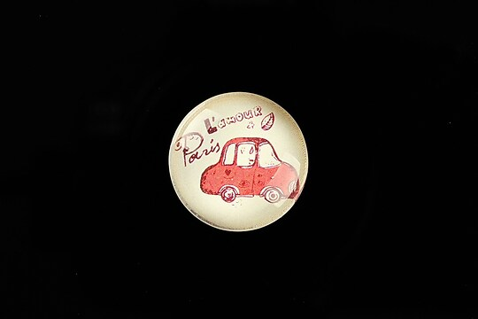 """Cabochon sticla 20mm """"Vintage Paris"""" cod 718"""