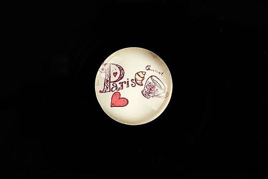 """Cabochon sticla 20mm """"Vintage Paris"""" cod 719"""