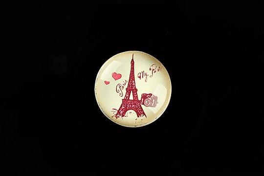 """Cabochon sticla 20mm """"Vintage Paris"""" cod 721"""