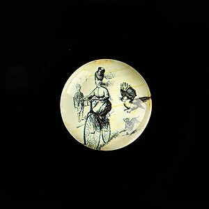 "Cabochon sticla 20mm ""Vintage Bicycle"" cod 722"