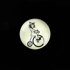 "Cabochon sticla 20mm ""Vintage Bicycle"" cod 723"