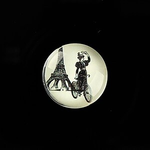 "Cabochon sticla 20mm ""Vintage Bicycle"" cod 724"