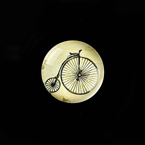 "Cabochon sticla 20mm ""Vintage Bicycle"" cod 726"