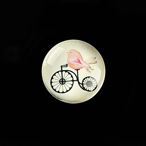 "Cabochon sticla 20mm ""Vintage Bicycle"" cod 727"