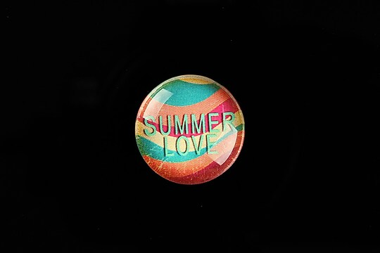 "Cabochon sticla 20mm ""Summer Love"" cod 728"