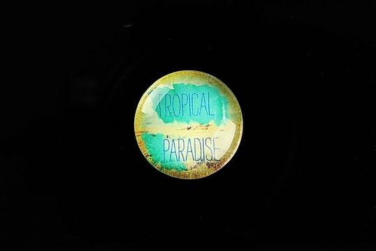 "Cabochon sticla 20mm ""Summer Love"" cod 729"