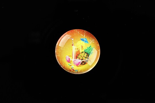 "Cabochon sticla 20mm ""Summer Love"" cod 730"