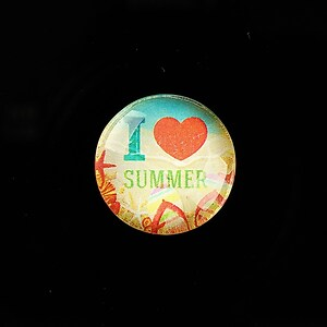 "Cabochon sticla 20mm ""Summer Love"" cod 731"