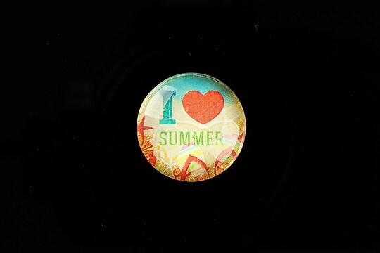 "Cabochon sticla 20mm ""Summer Love"" cod 731"