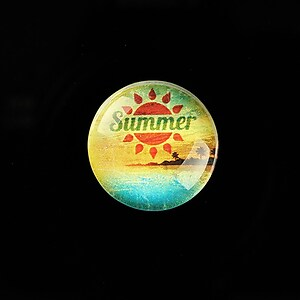 "Cabochon sticla 20mm ""Summer Love"" cod 733"