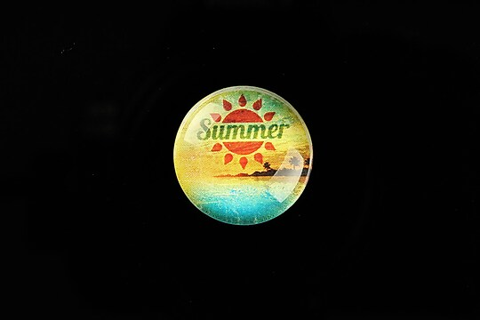 "Cabochon sticla 20mm ""Summer Love"" cod 733"