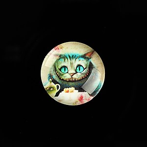 "Cabochon sticla 20mm ""Alice in Wonderland"" cod 756"