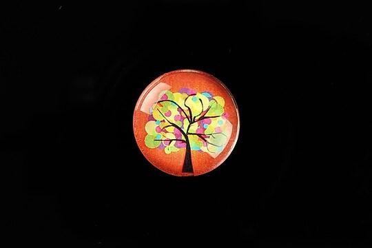 "Cabochon sticla 20mm ""Tree of Life"" cod 763"