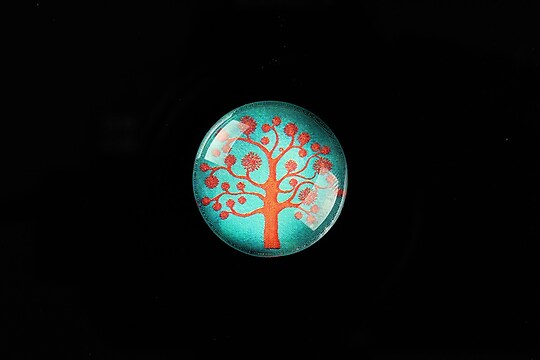 "Cabochon sticla 20mm ""Tree of Life"" cod 764"