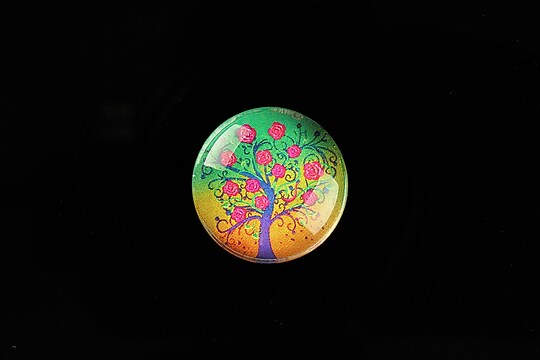 "Cabochon sticla 20mm ""Tree of Life"" cod 768"