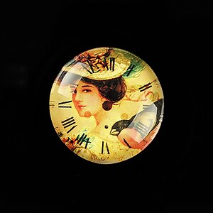 "Cabochon sticla 25mm ""Vintage Beauty"" cod 771"
