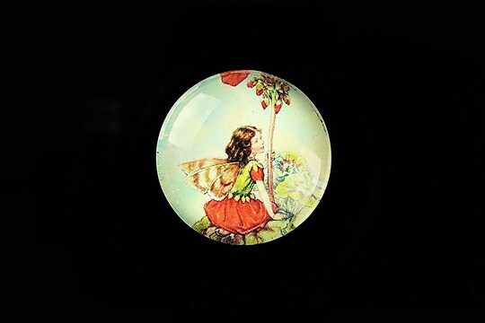 "Cabochon sticla 25mm ""Little Fairy"" cod 788"
