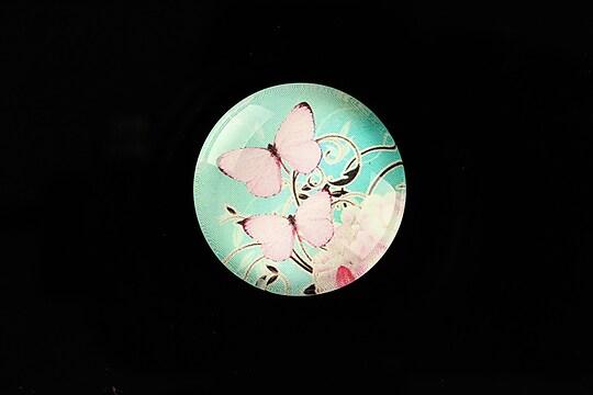 "Cabochon sticla 25mm ""Sweet Butterfly"" cod 792"