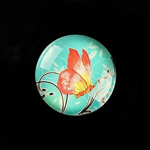 "Cabochon sticla 25mm ""Sweet Butterfly"" cod 793"