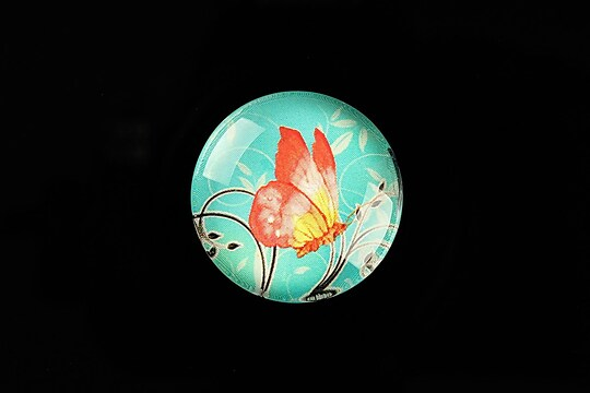 "Cabochon sticla 25mm ""Sweet Butterfly"" cod 793"