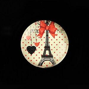 "Cabochon sticla 25mm ""Paris Chic"" cod 797"
