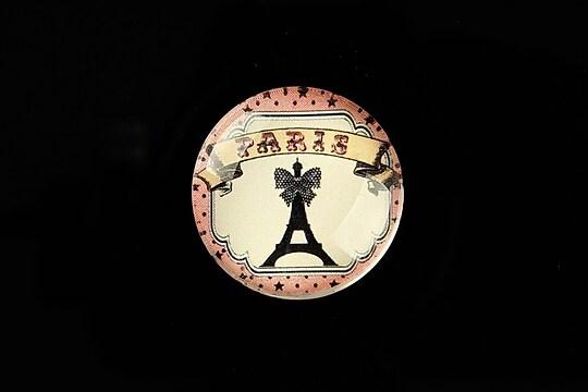 "Cabochon sticla 25mm ""Paris Chic"" cod 798"
