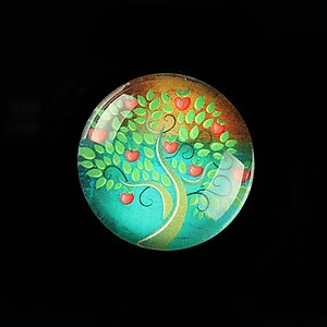 "Cabochon sticla 25mm ""Tree of Life"" cod 804"