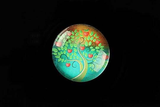 "Cabochon sticla 25mm ""Tree of Life"" cod 804"