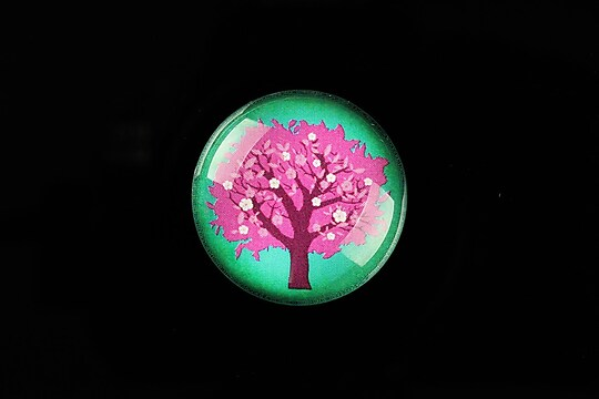 "Cabochon sticla 25mm ""Tree of Life"" cod 805"