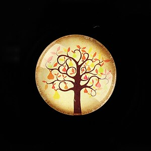 "Cabochon sticla 25mm ""Tree of Life"" cod 806"