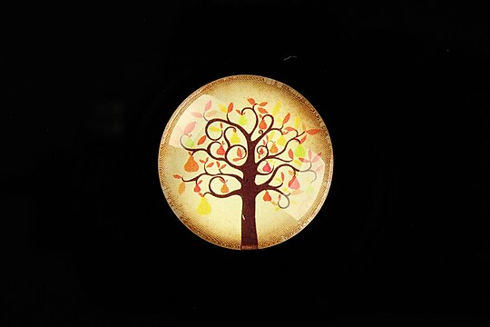 "Cabochon sticla 25mm ""Tree of Life"" cod 806"